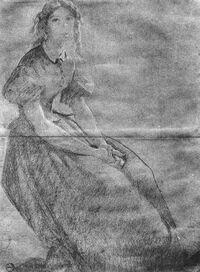 Blanka Teleki | Blanka Teleki in prison - Painting by Viktor Madarász (1830-1917)