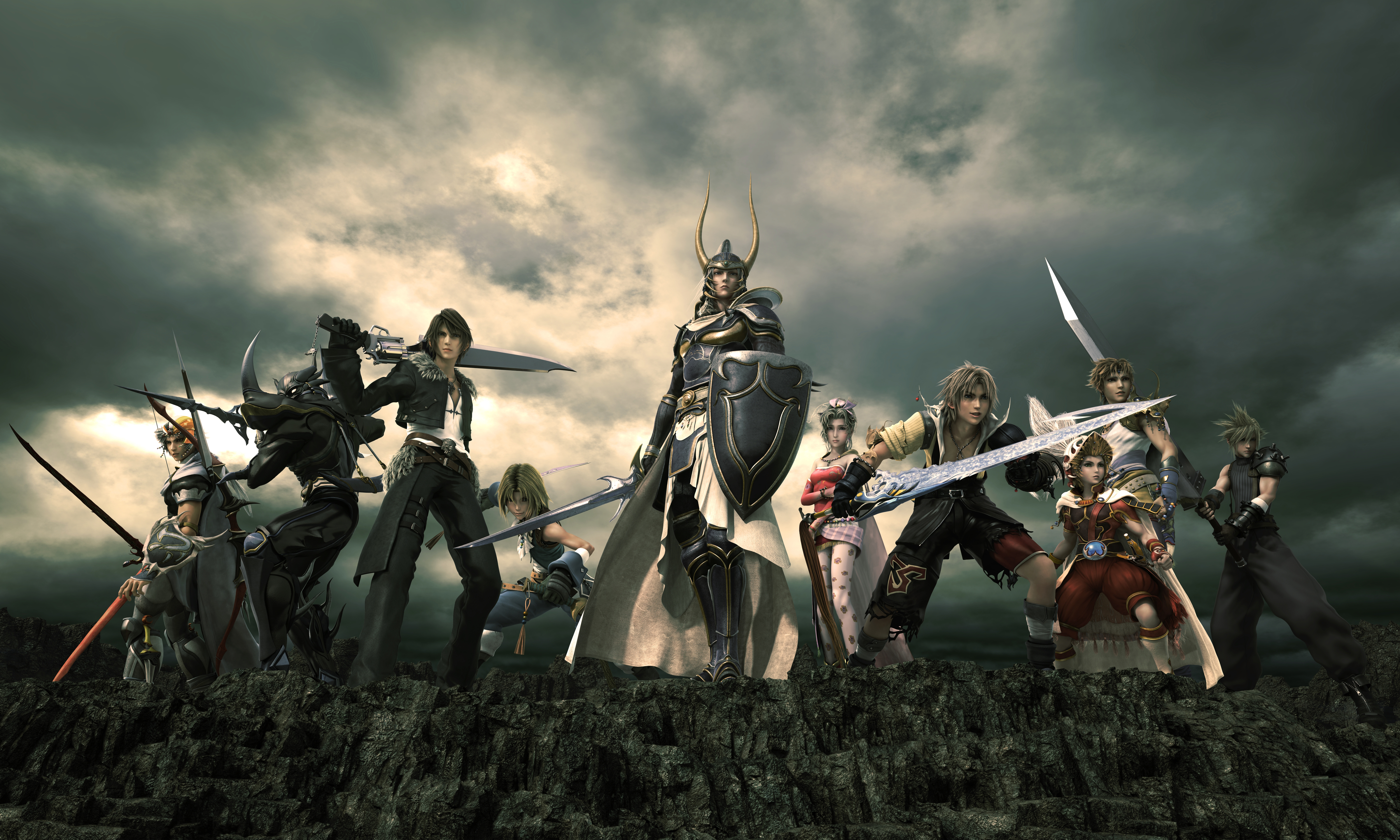Dissidia Final Fantasy   CG artwork of Warriors of Cosmos To me, this game has the best combat system of all Final Fantasy games; ...