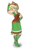 Humanized applejack in dress by empty 10-d39vdp3