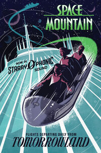 Magic Kingdom Space Mountain Poster