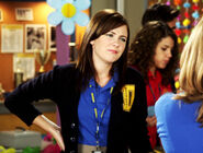 Anya &amp; Holly J In Their Degrassi Uniforms Talking At Degrassi