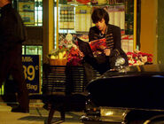 Eli Reading &#39;Stalker-Angel&#39; On Top Of His &amp; Clare&#39;s Special Bench