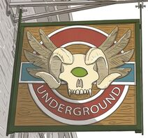 The underground sign