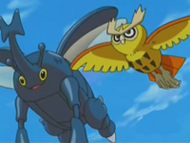 EP410 Noctowl y Heracross