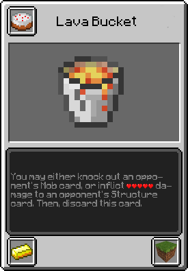 how to get lava with bucket minecraft