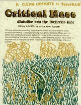 New Orleans Critical mass july2010 poster