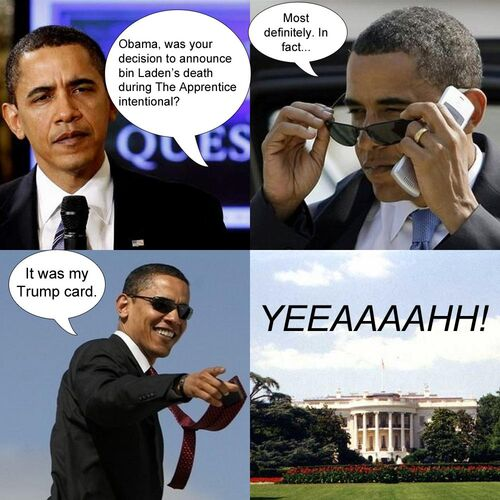 Obama shades yeeaaaaaah trump