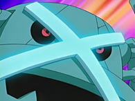 EP446 Metagross usando defensa férrea