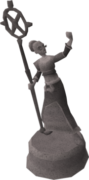 Zenevivia statue