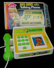 Big bird talking phone 1982 a