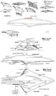 USS Dauntless design and orthographic scetches