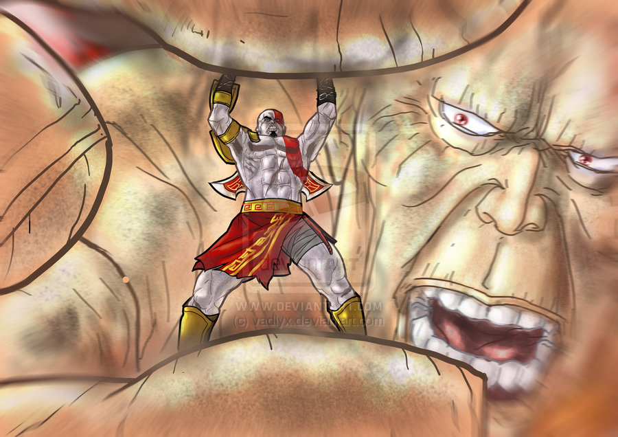 cronos god of war. Kratos vs chronos by