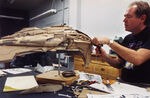 Kazon Fighter Studio model undergoing modifications by David Stipes