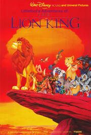Littlefoot&#39;s Adventures of The Lion King Poster