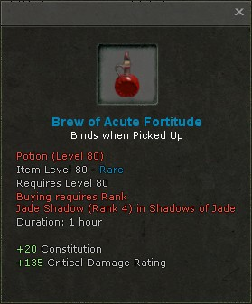 Brew of acute fortitude