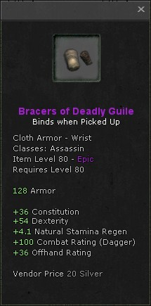 Bracers of deadly guile