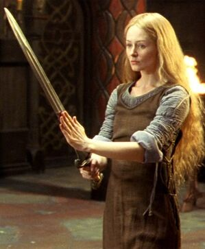 Eowyn with sword