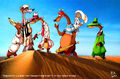 Weasels and rabbit in desert by mikmix.jpg