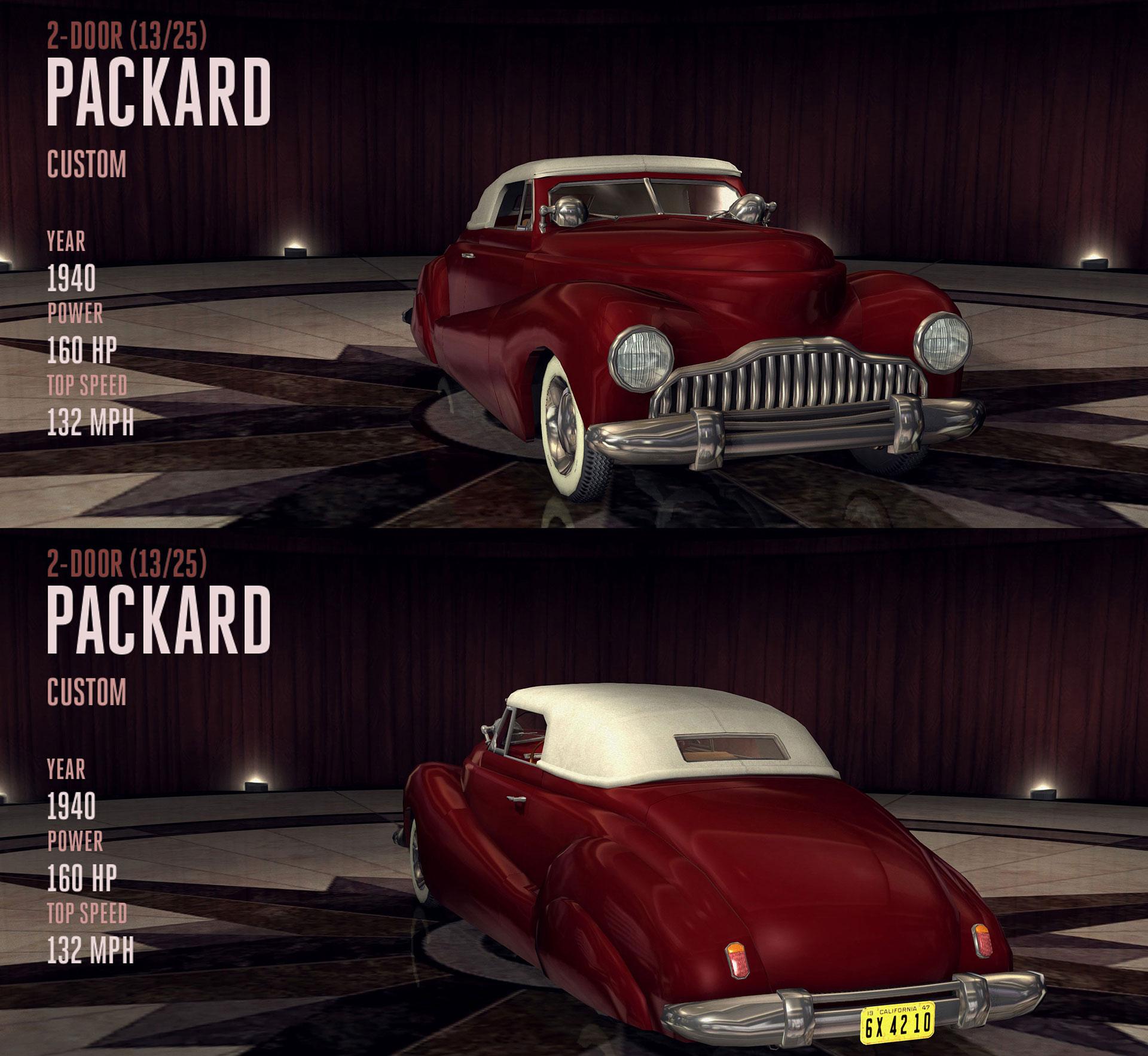 IGCD.net: Vehicles/Cars List For L.A. Noire