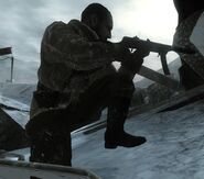 Kravchenko pointing his PPSh-41