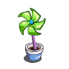 Green Pinwheel-icon