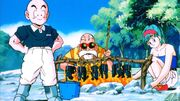 Krillin, Bulma, and Roshi Camping (Tree Of Might)
