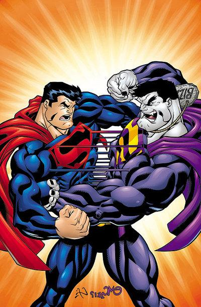 Superboy Fights Bizarro - Saves Luthor - YouTube
