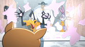 Officer is Behind Daffy