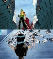 Zoro nami sogeking-Usopp robin franky vs marines