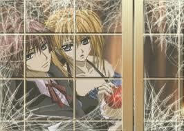 Rima and Shiki behind Spidery Windows