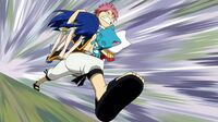 Natsu follows Gray&#39;s command