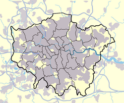 Greater london outline map bw