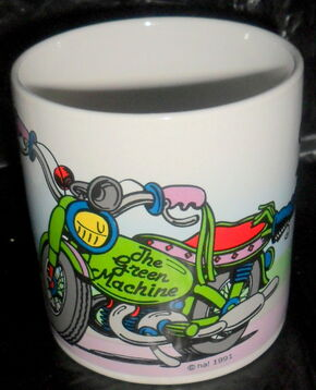 Presents 1991 kermit green machine mug 2