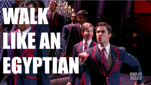 Blaine walk like an egyptian