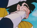 Gohan gets punched in the mouth