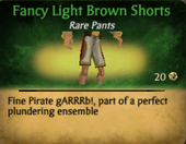 Fancy Light Brown Shorts