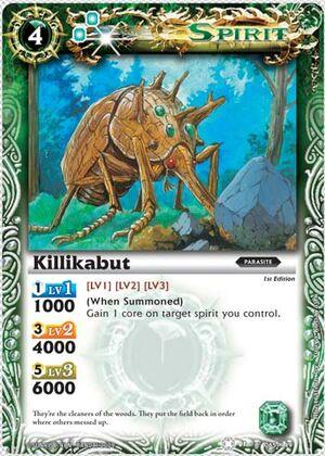 BS01 -battle spirits set 1 -spirits. 300px-Killikabut2