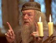 Dumbledore discussing the events to come shortly after Cedric Diggory&#39;s death