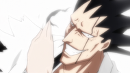 Nnoitra removes Kenpachi's eyepatch