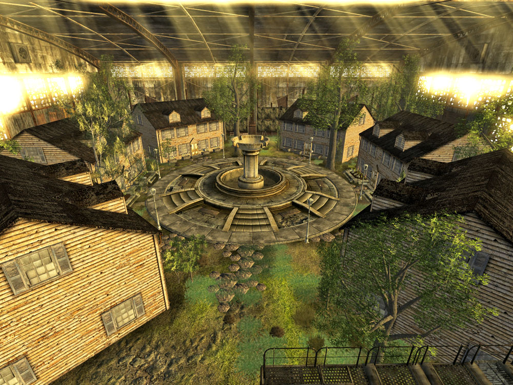 Higgs Village interior