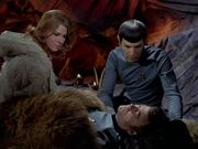 Spock kmmert sich um McCoy