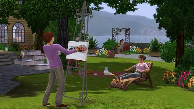 جميع اجزاء لعبة the sims 3 للكمبيوتر على اكثر من سيرفر 640px-Painting