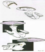 Galaxy Class USS Enterprise-D saucer separation design