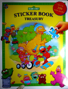 Sticker Bk Treasury Sesame St