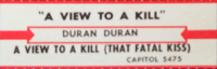 A view to a kill duran duran duran jukebox