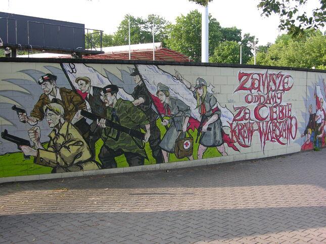 Patriotyczny mural - Powstańcy
