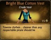 Bright Blue Cotton Vest