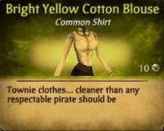 Bright yellow cotton Blouse
