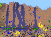 Terraria map gen glitch. Chasms not conected