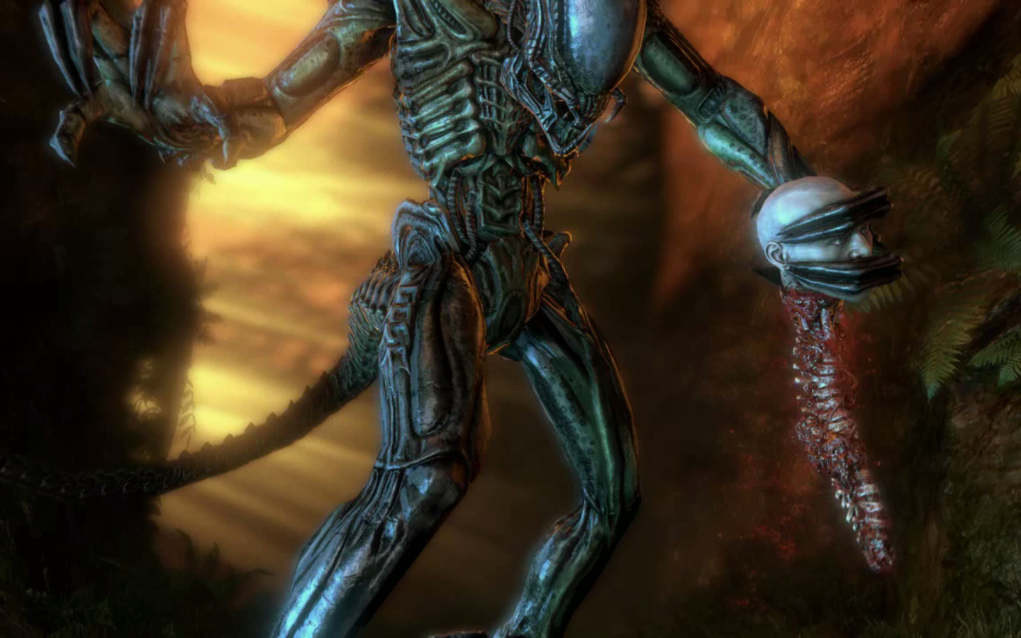 PREDALIEN: HYBRID BOSS - ALIENS vs PREDATOR STORY MODE ...